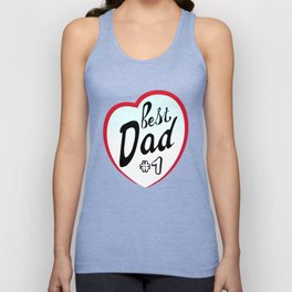 Best dad on father's day. Dad  number one Unisex Tank Top