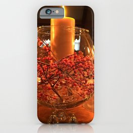 Glass Bowl Candle Decor iPhone Case