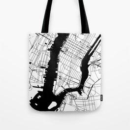 New York City Minimal Map Tote Bag