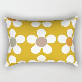 Spring Daisies on Yellow Rectangular Pillow