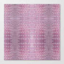 Pink Snake Skin Pattern Canvas Print