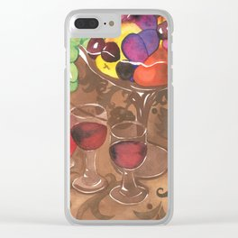 Fruit and Wine Stil life Clear iPhone Case