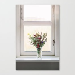 Flowers in a window Canvas Print