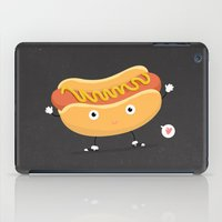 hot dog iPad Cases featuring Hot Dog by Céline Dscps