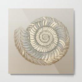 Ammonite Simple Illustration  Metal Print