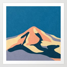 Over The Sunset Mountains Art Print