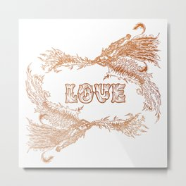 Love Rising in Copper Metal Print