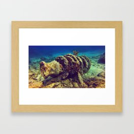 Covered by the sea Framed Art Print
