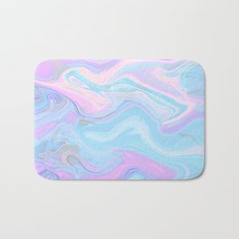 Sea Marble Candy Pattern - Violet, Aqua and Blue Bath Mat