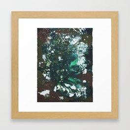 Green abstract liquidity. Framed Art Print