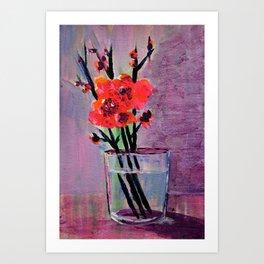 Flowers in glass Art Print