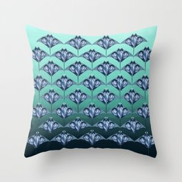 Manta ray - Sapphire Throw Pillow