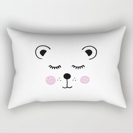 Cute bear illustration Rectangular Pillow