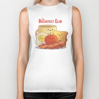 breakfast club Biker Tanks featuring The Breakfast Club by According to Devin