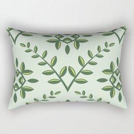 Green Olive Branch Pattern Rectangular Pillow