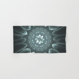Blossom Within in Platinum Hand & Bath Towel