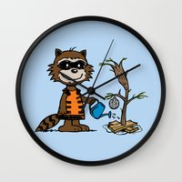 groot Wall Clocks featuring Groot Grief! by Mike Handy Art
