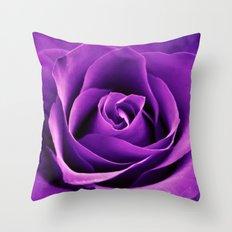 Purple Passion Rose Throw Pillow