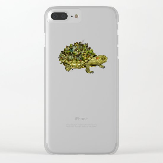 Turtle Town Clear iPhone Case