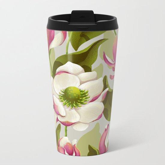 magnolia bloom - daytime version Metal Travel Mug