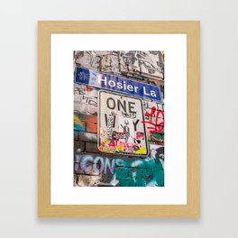 Hosier Lane Street Graffiti Melbourne Printable Wall Art | Australia Urban City Photography Print Framed Art Print