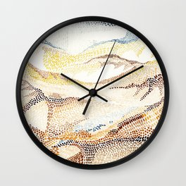 Dunes and desert Wall Clock