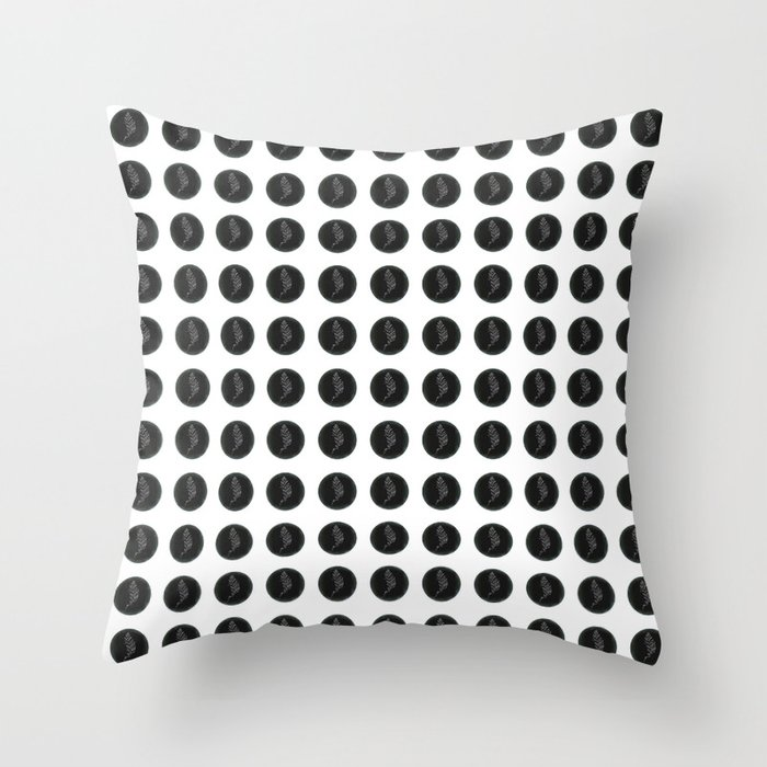 (Overworked) Guardian Angel Polka Dots Throw Pillow