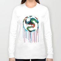 world cup Long Sleeve T-shirts featuring Bleed World Cup by DesignYourLife