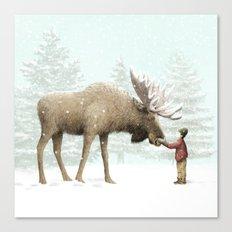 Winter Moose Canvas Print