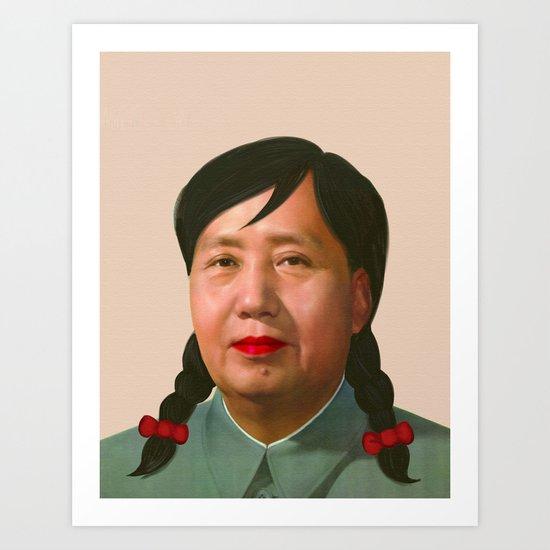 Auntie Mao Mao Art Print