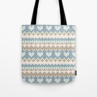 knitting Tote Bags featuring knitting by alisblack