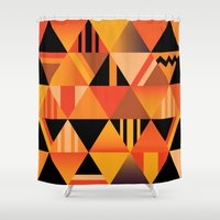 pumpkin Shower Curtains featuring pumpkin by Gray