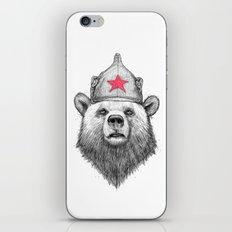 russian bear iPhone & iPod Skin