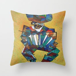 The Accordionist Throw Pillow