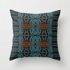 Pattern AM01 Green Throw Pillow