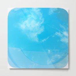 Sky Swimming pool Metal Print