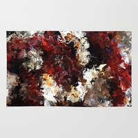novelty Area & Throw Rugs featuring Jasmine and Columbine Abstract by Moody Muse
