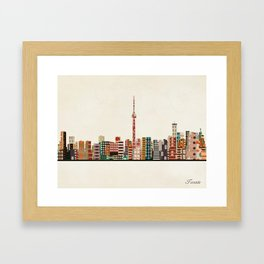 toronto city skyline Framed Art Print