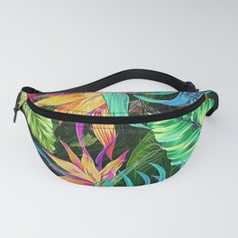 sparkly neon jungle Fanny Pack