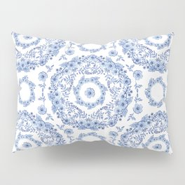 Blue Rhapsody on white Pillow Sham