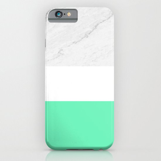 Marble White Mint iPhone & iPod Case