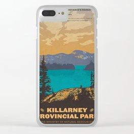 Vintage poster - Killarney Provincal Park, Canada Clear iPhone Case