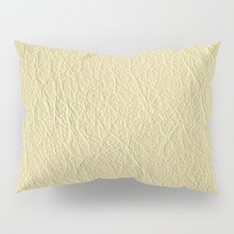 Leather Texture (Cream) Pillow Sham