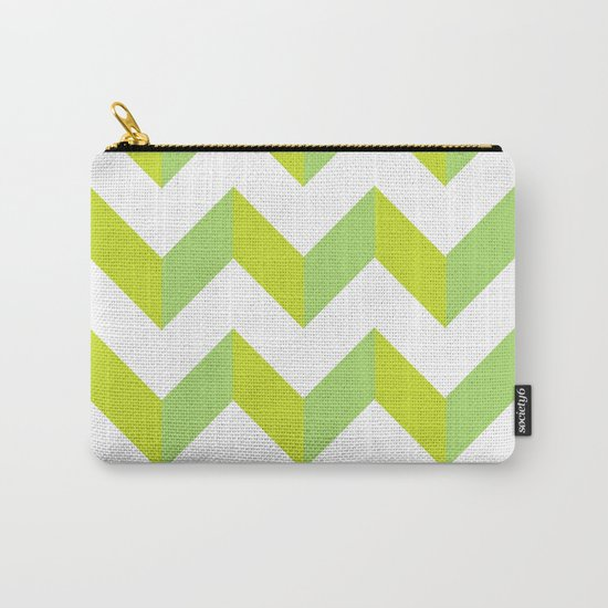 green pattern geometric Carry-All Pouch