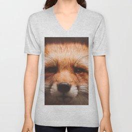 Red fox 2 Unisex V-Neck