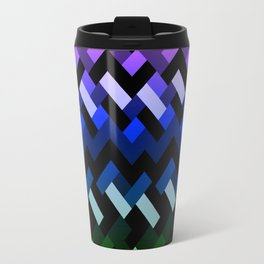 Blue Geometric Travel Mug