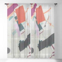 Suprematism Modern Abstract Geometric Art Sheer Curtain