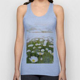 White herb camomiles clump Unisex Tank Top