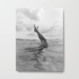 Ocean Dive Metal Print
