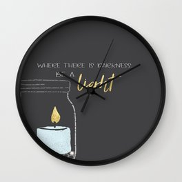 Be a light Wall Clock